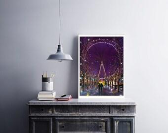 London Eye, Original Oil Painting
