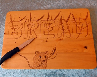 Pyrography Bread Chopping Board