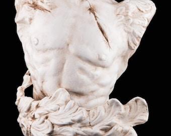 Bust handmade in papier mache   Ermes