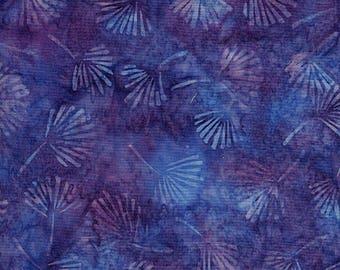 Gingko Leaf Purple Island Batik Fabric