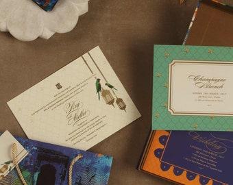 Birds of Paradise Wedding Collection - Tropical Wedding Invitation