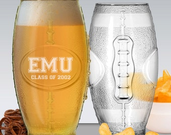 Football Tumbler, Football Glass, Engraved Football Glass, Football Coach Gift Ideas, Football Party Supplies, Personalized Football Gifts