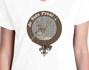 Fraser Clan Badge/Je Suis Prest t-shirt