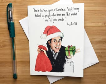 Funny Jerry Christmas Card, Funny Xmas Cards, Happy Holidays Greeting Card, Christmas Card Box Set, Stocking Stuffers, Santa Claus