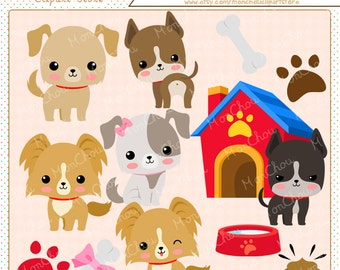 Dog Clipart Set - For Commercial and Personal Use Cliparts
