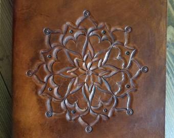 Tooled Mandala Leather Fauxdori Traveler's Notebook Cover