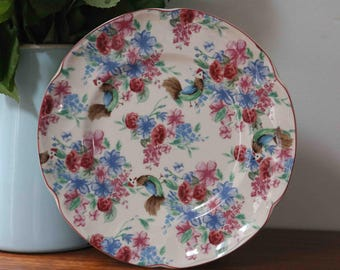 """Adorable Johnson Brothers Farmhouse Chic Chicken Chintz  Plate 8.25""""   Made in England"""