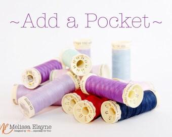 Add a zippered pocket