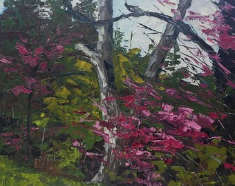 Springtime at Cranbrook, Knife Oil Painting, Plein Air