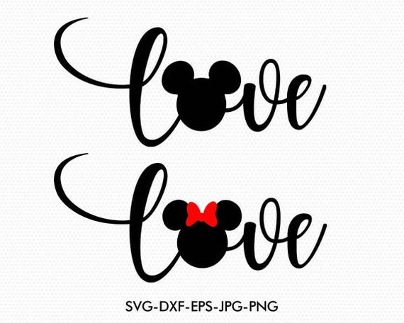 Download Mickey Minnie Love Wording Disney Love valentines Svg Mickey
