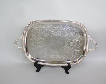 Vintage Silverplate Tray with Handles