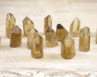 Citrine Unheated Polished Obelisk - Natural Citrine Points - Rare Citrine - Real Citrine - Polished Crystal Points - Reiki Crystals