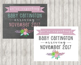 Digital Pregnancy Announcement | Baby Arriving | Baby Due | Twins
