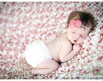 Baby Bloomer and Headband, Baby Girl bloomers, Baby Bloomer, Newborn ruffle bloomer, Diaper cover, baby girl diaper covers , bloomer newborn