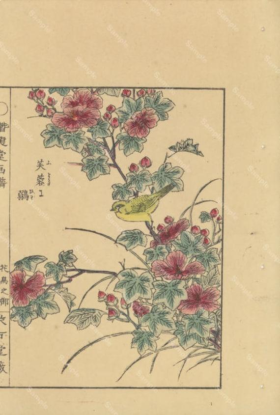 Authentic Japanese woodblock print Decorative art wall art