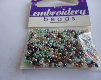 seed fine embroidery 2mm (018) mix