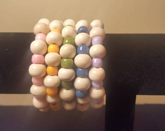 Beaded Bracelets - Set of 5 - Chunky
