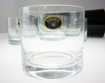 Royal Bohemia Crystal Double Old Fashion Glasses Boxed Set 6