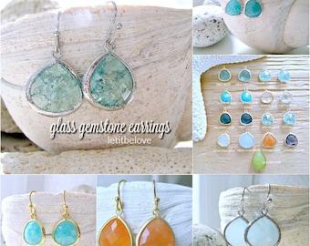 Silver Erinite Earrings Silver aquamarine earrings gemstone earrings Beach Wedding Bridesmaid Earrings Beach Jewelry march birthstone gifts