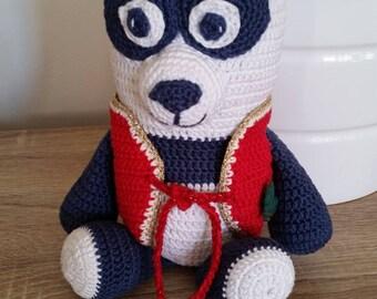 Panda crochet, handmade, Christmas decoration