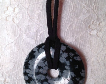 """1 & 1/2"""" Natural Stone Focal Necklace"""