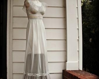 Full Length Sheer Lingerie Nightgown