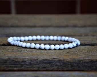 White Magnesite Ankle Bracelet