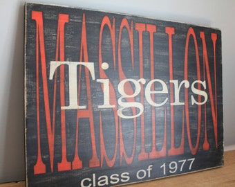 Custom Hand painted Large Alumni Sign.  School sign.  Class of Sign. High School. College. Graduation Gift