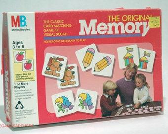 The Original Memory Game from Milton Bradley 1986 COMPLETE (read description)