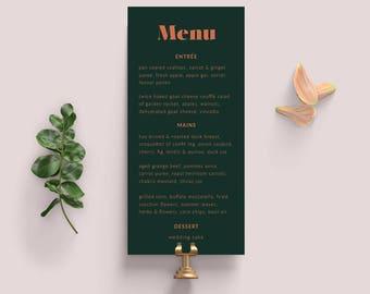 Wedding Menu | Wedding Menu Template | Digital Download | Table Menu | Modern Wedding | SAMARA - Wedding Menu