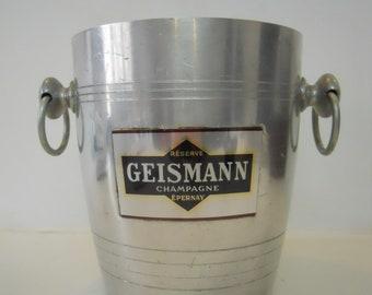 Vintage Champagne Bucket Wine Cooler GEISMANN EPERNAY French Champagne Bucket Ice Bucket