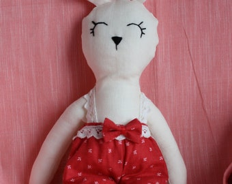 Doll rabbits with his blanket, Teddy, rabbit, toy, gift, blanket