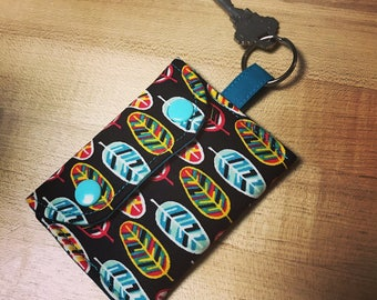 Change Purse Key Ring/ change purse keychain/ key fob