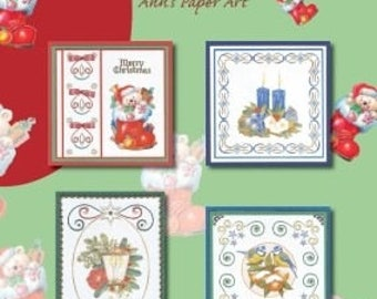 Book 8 cards designs 3D embroidery 9 sheets