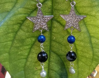 STAR Midnight Sparkle Star earrings