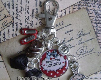 "Keychain or bag charm ""Nanny"""