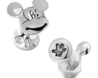3D Mickey Mouse Cufflinks Disney Licensed Cuff Links