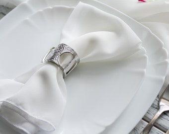Set of 4 chiffon napkins, Milk White table napkins, napkins for Wedding, Wedding Decor, Serenity table napkins, Colored chiffon