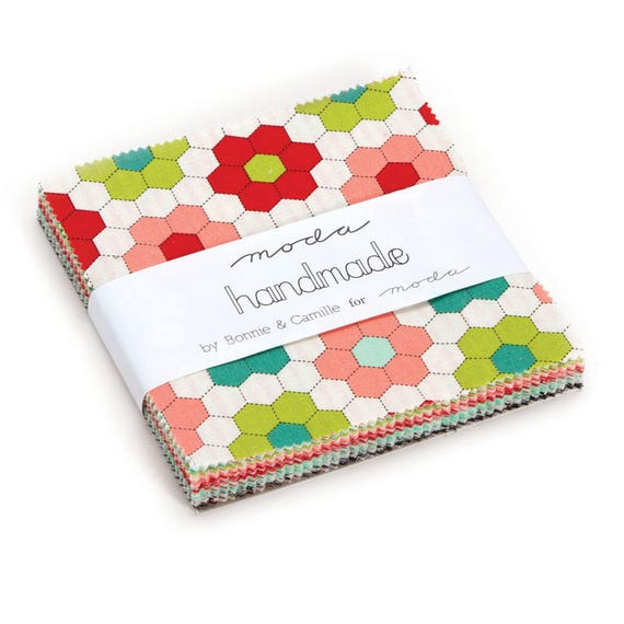 Handmade Charm Pack of 42 Fabrics by Bonnie and Camille's 2016 Quilt Fabric Collection From Moda