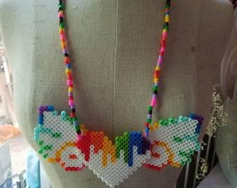 Angel Heart Perler Necklace