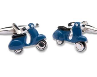 Dark Blue Scooter Cufflinks