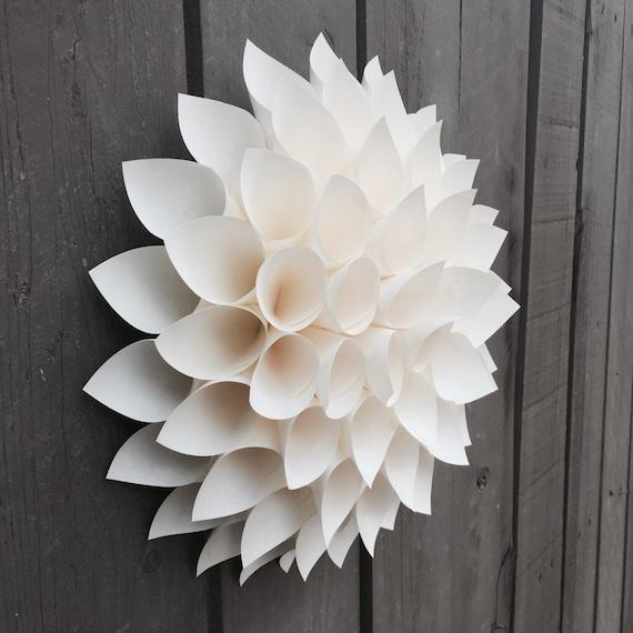 items similar to wall flower - paper dahlia - wall art - nursery decor