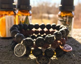 Illuminati Bracelet // Masonic Eye of Providence // Handmade Essential Oil Diffuser