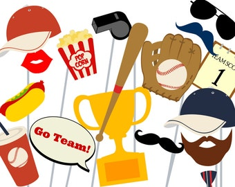 Print Yourself Baseball Photo Booth Party Props