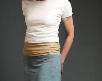 Organic Flora Top.  Boat neck.  Dolman Sleeves.  Crop Top. Boho. T-shirt. (hemp/organic cotton knit)