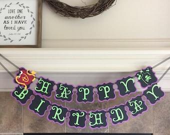 Descendants 2 Birthday Banner - Disney Descendants Party - Decorations Descendants Girl Mal Evie Rotten to the Core Sign Supplies