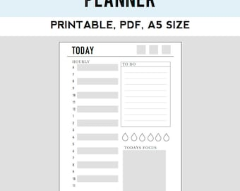Day on One Page Insert (a5 size)