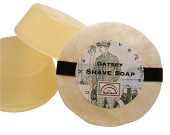 SHAVING Soap - GATSBY - Wet Shaving with Bentonite Clay and Moisturizing Shea Butter - refills for shaving mugs too by Man Cave Soapworks