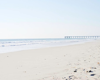 Strand und Pier Fotografie, Strand-Print, Foto Beach, Boardwalk Fotografie Print, blau, Fine Art Prints, Wrightsville Beach, North Carolina