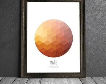 Mars - The Red Planet - 8x10 DIGITAL PRINTABLE PDF